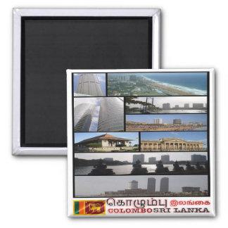 LK - Sri Lanka - Colombo - mosaico - collage Imán Cuadrado