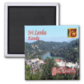 LK - Sri Lanka - lago Kandy Imán Cuadrado