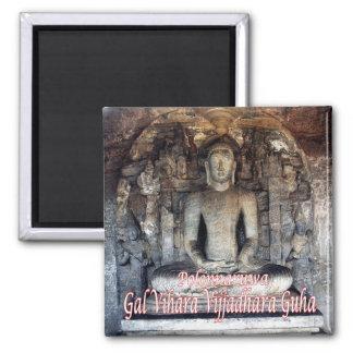 LK-Sri Lanka-Polonnaruwa-Gal Vihara, Vijjadhara 2 Inch Square Magnet