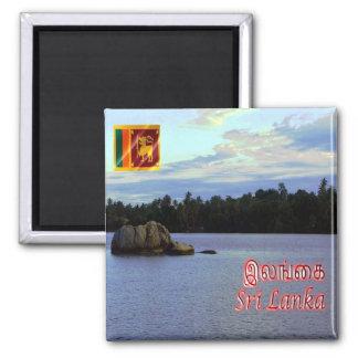 LK - Sri Lanka - río de Dharga - de Bentota Imán Cuadrado