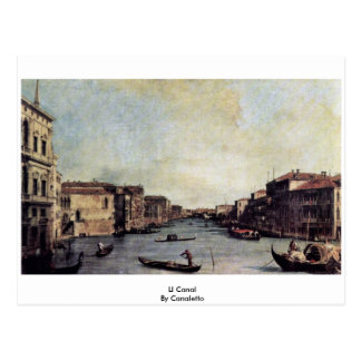 Ll Canal By Canaletto Post Card