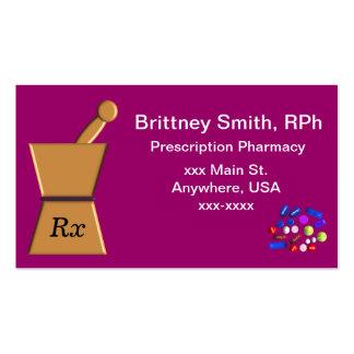 Ll de las tarjetas maja y del mortero de visita de tarjetas personales