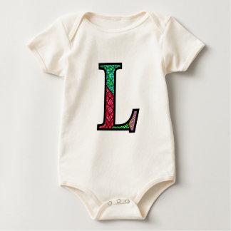 Ll Illuminated Monogram Baby Baby Bodysuits