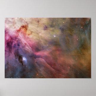 LL Ori y la nebulosa de Orión Póster