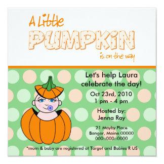 L'l Pumpkin Baby Shower Invitation