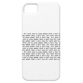 ll work and no play 2 iPhone 5 case
