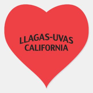 Llagas-Uvas California Heart Sticker
