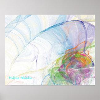 Llama abstracta de Digitaces de la bella arte, Hal Póster