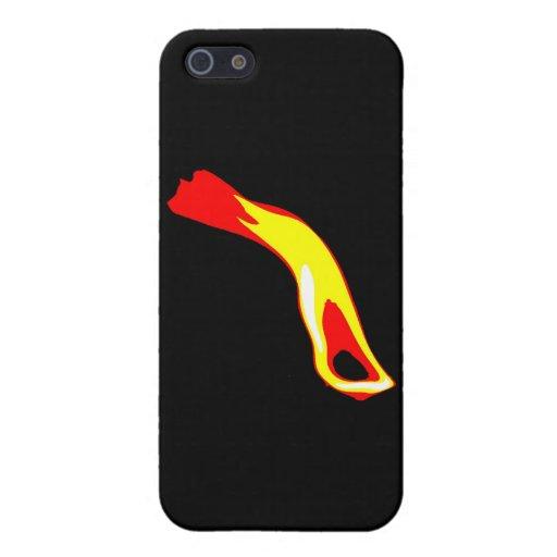 Llama abstracta iPhone 5 carcasa