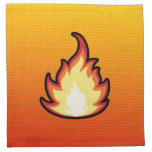 Llama amarillo-naranja del fuego servilletas de papel