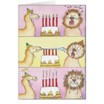 LLAMA AND LION greeting card by Nicole Janes