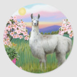 Llama and Spring Blossoms Stickers