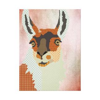 Llama Art Canvas Canvas Print