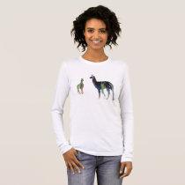 Llama art long sleeve T-Shirt