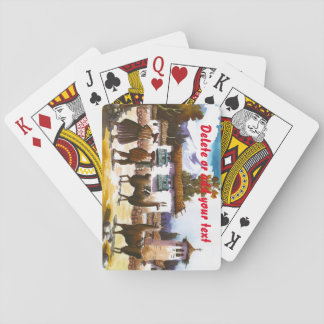 Llama Art Print Cuzco, Peru Poker Cards