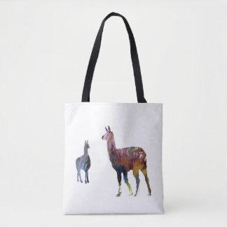 Llama art tote bag