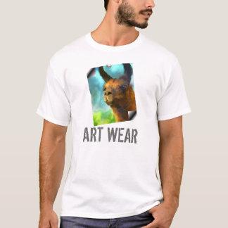Llama Art Wear T Shirt