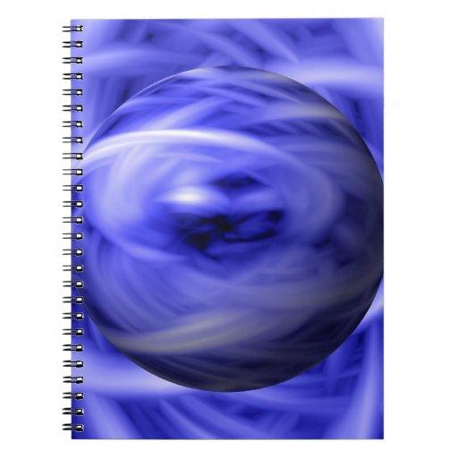 Llama azul cuaderno