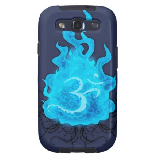 Llama azul del fuego abstracto samsung galaxy s3 carcasas