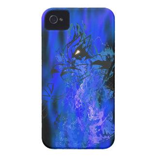 Llama azul del tigre carcasa para iPhone 4 de Case-Mate