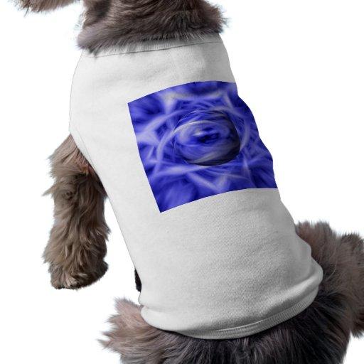 Llama azul playera sin mangas para perro