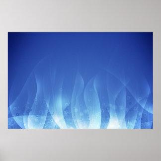 Llama azul póster