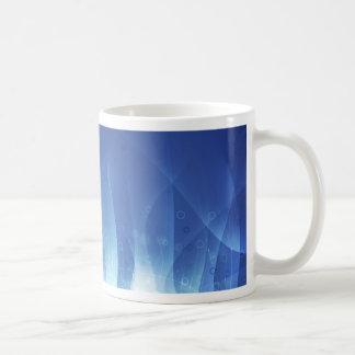 Llama azul taza básica blanca