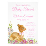 Llama Baby Girl Shower Invitation