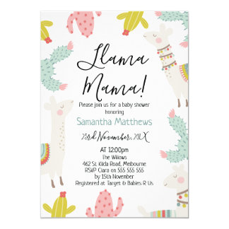 Llama Baby Shower Invitation
