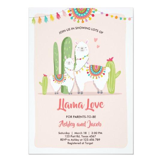 Llama Baby Shower Invitation Llama Love Fiesta Zazzle Com