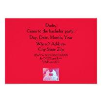 Llama bachelor party invitation. Blue & Pink llama Card