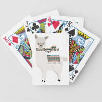 Llama Bicycle Playing Cards