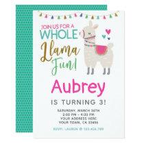 Llama Birthday Invitation - Customize it yourself