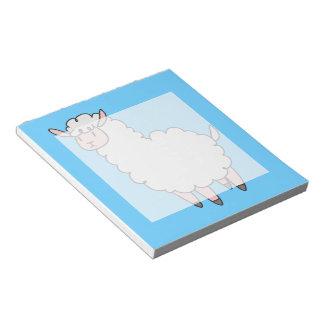 Llama blanca linda blocs de papel