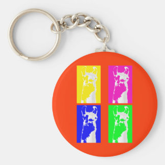 Llama Blocks in Bright Colors on everything Keychain