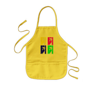 Llama Blocks in Bright Colors on everything Kids' Apron