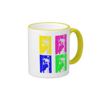 Llama Blocks in Bright Colors on everything Mug