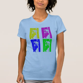 Llama Blocks in Bright Colors on everything Tee Shirt