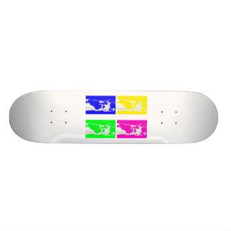 llama blocks skate board