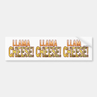 Llama Blue Cheese Bumper Sticker