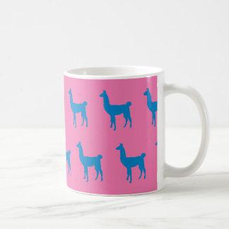 Llama Blue Pink Coffee Mug