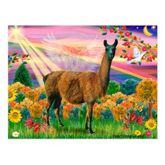 Llama (brown) - Autumn Angel Postcard