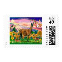 Llama (brown) - Autumn Angel Stamp