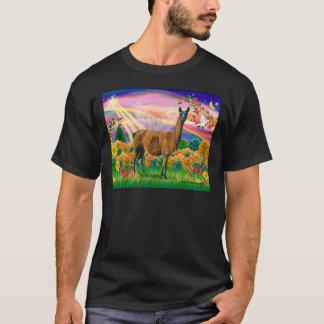 Llama (brown) - Autumn Angel T-Shirt