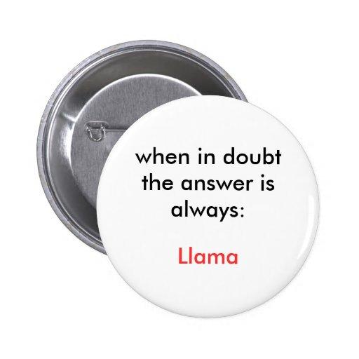 Llama! Pinback Buttons