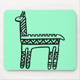 Llama-BW Mouse Pad