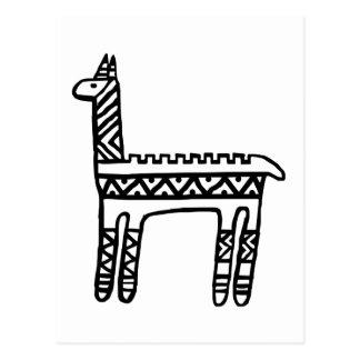Llama-BW Postcard