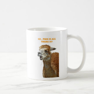 Llama chewing straw mugs