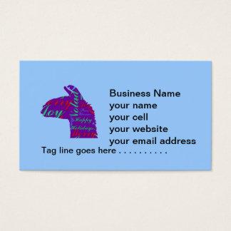 Llama Christmas: Text Merry Christmas, Peace, Joy Business Card