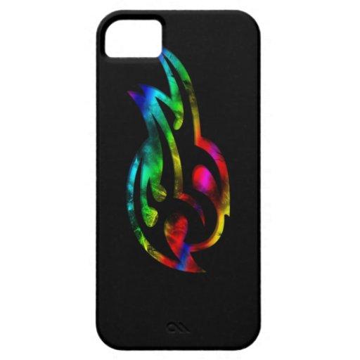 Llama coloreada multi iPhone 5 carcasa